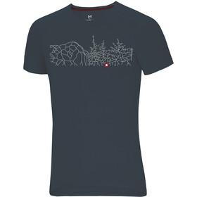 Ocun Raglan T-Shirt Uomo, bleau forest graphite